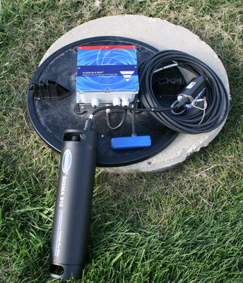 Manhole Antenna with flowmeter