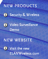 Elan Security Video Menu